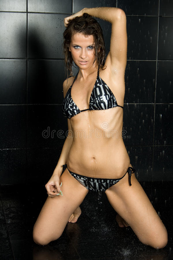 Download Wet girl stock image. Image of copy, irresistibility - 14009605