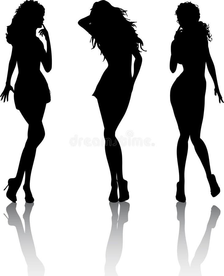 Sexy wijfjes stock illustratie