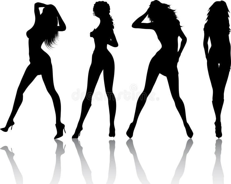 Sexy wijfjes vector illustratie