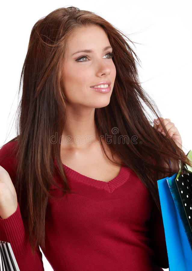 Download Sexy winkelend meisje stock foto. Afbeelding bestaande uit gelukkig - 10778162