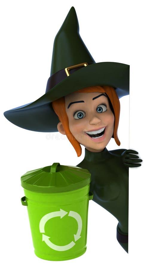 witch - 3D Illustration vector illustration