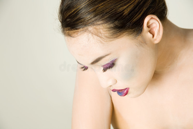 Woman. Asian woman in makeup stock image