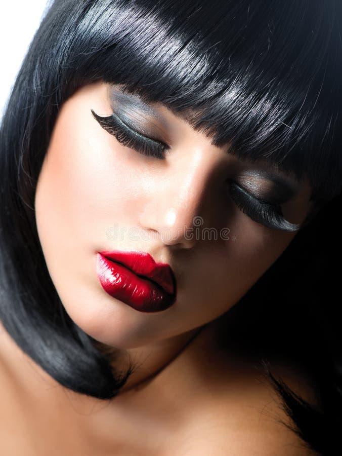 Download Woman stock photo. Image of eyeshadow, fringe, eyes, make - 27405124