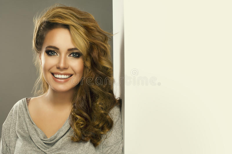 woman with big hair royalty free stock photo
