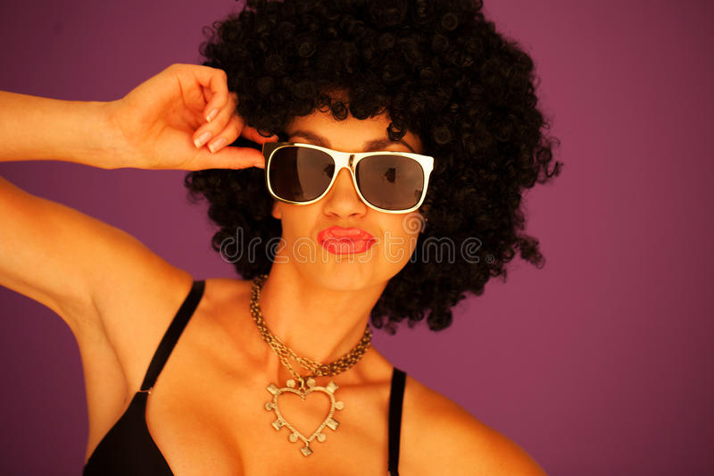 Download Woman With Black Afro Hairstyle Stock Images - Image: 27075644