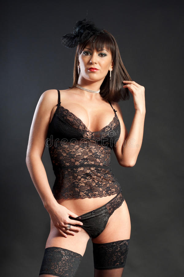 Download Woman In Black Lingerie Stock Images - Image: 20449944