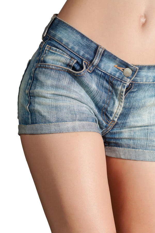 Download Woman body in jean shorts stock image. Image of seductive - 22917849