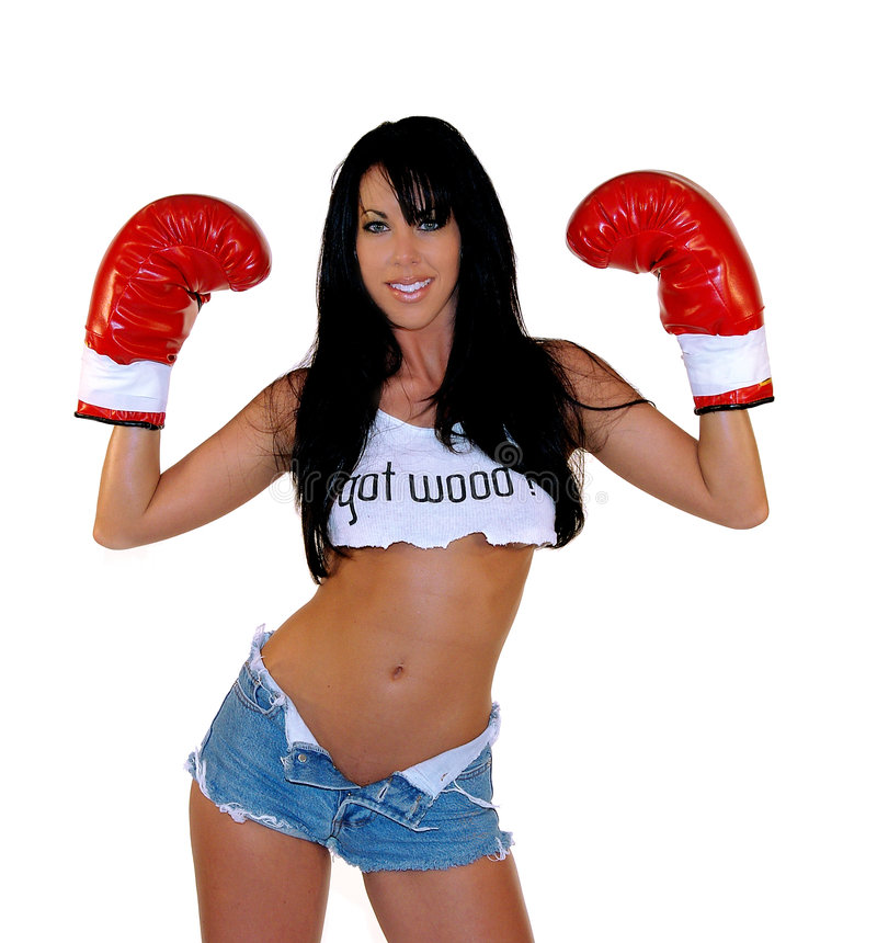 Woman Boxer stock images
