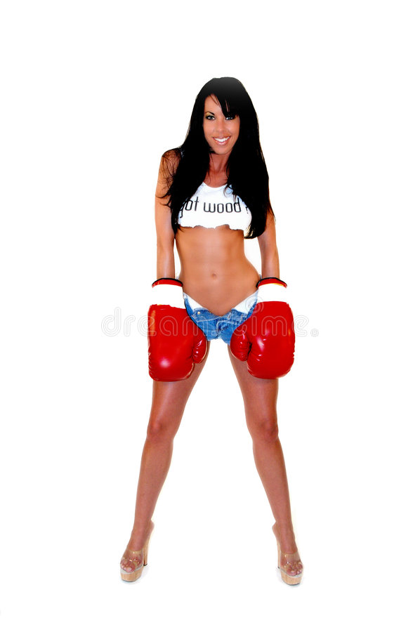 Download Woman Boxer stock image. Image of expression, woman, people - 163799