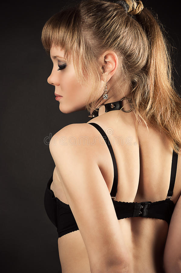 woman in bra back view royalty free stock images
