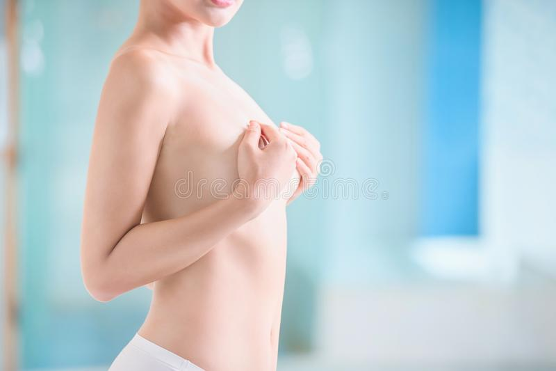 Sexy woman breast royalty free stock photos