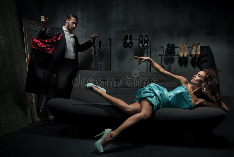 Download Woman On The Couch Stock Photo - Image: 19134770