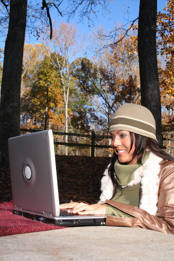 Woman In Fall fashion Outdoors royalty free stock photos