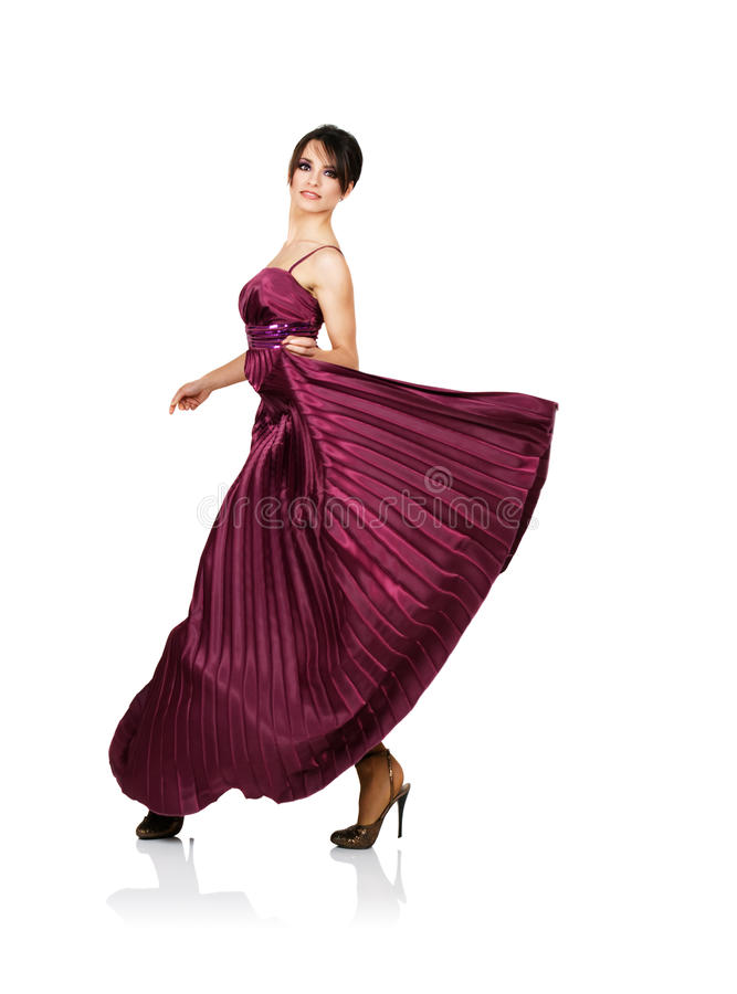 Download Woman With Flying Elegant Dress Stock Image - Image: 10065009