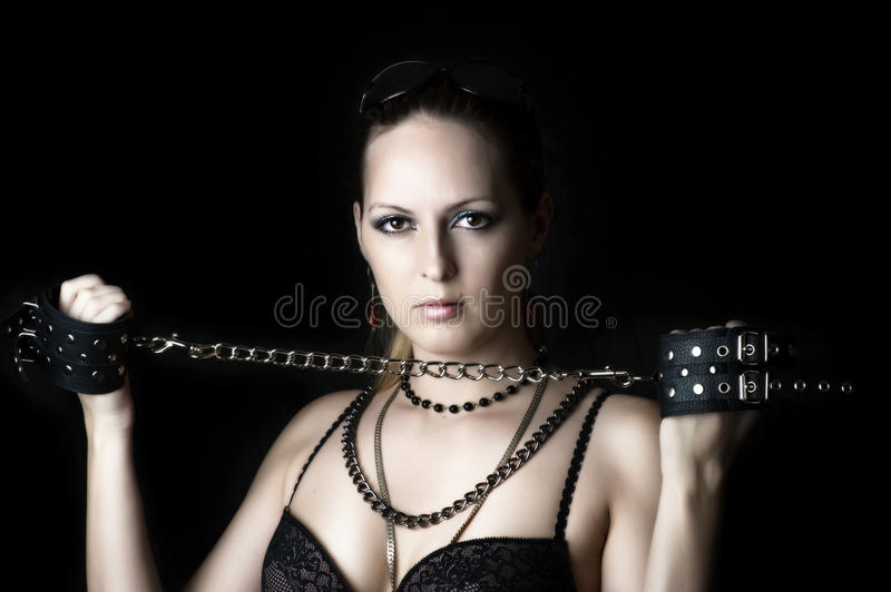 Woman  With Handcuffs Stock Image