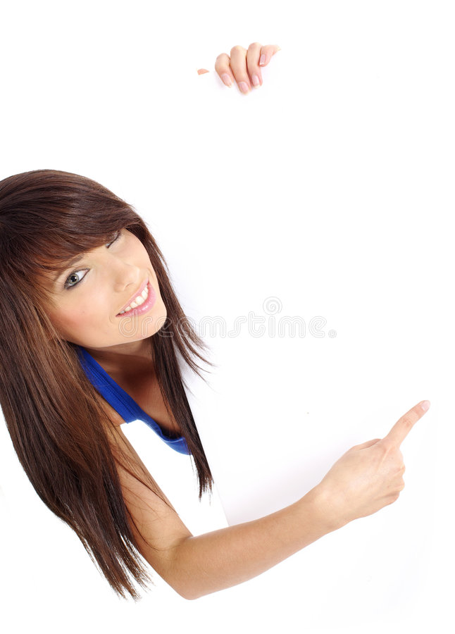 Download Woman Holding  Billboard Royalty Free Stock Image - Image: 6503806