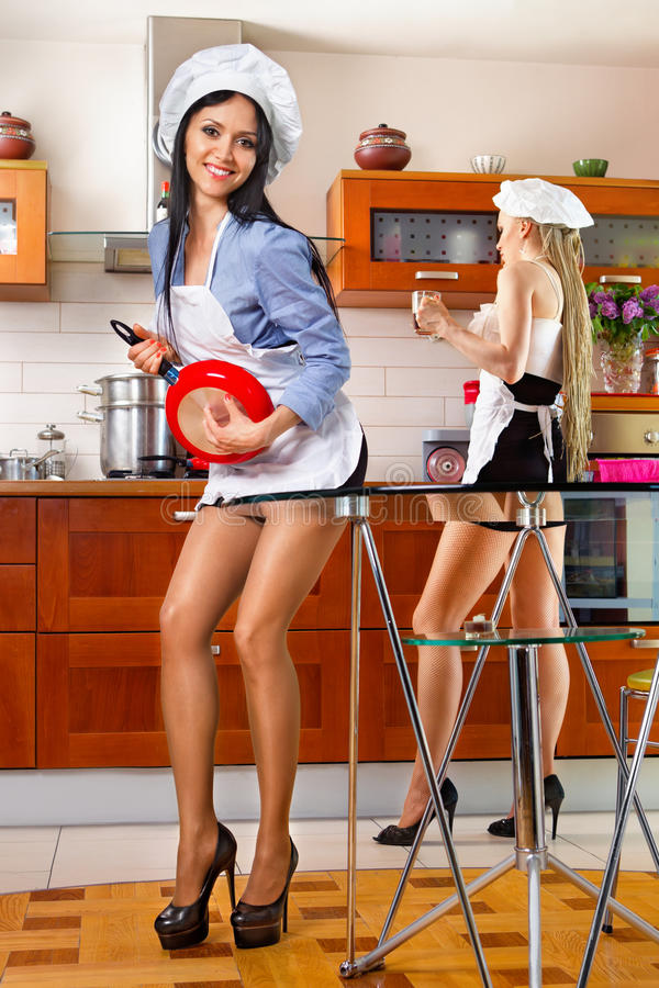 Download Woman in kitchen stock photo. Image of house, caucasian - 24986000