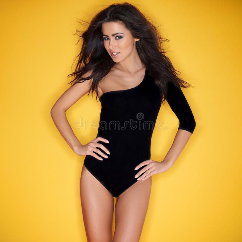 woman in a leotard royalty free stock photos