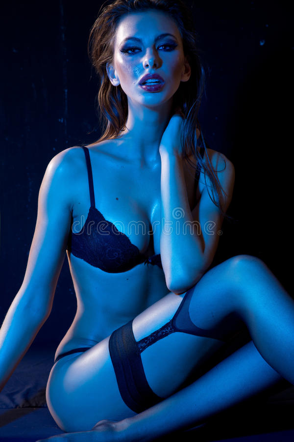 Download Woman in lingerie stock image. Image of lingerie, breast - 27376257