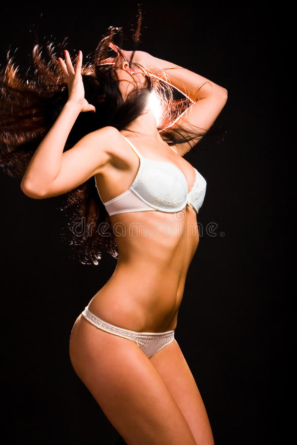 Download Woman in lingerie dancing stock photo. Image of dance - 9841284