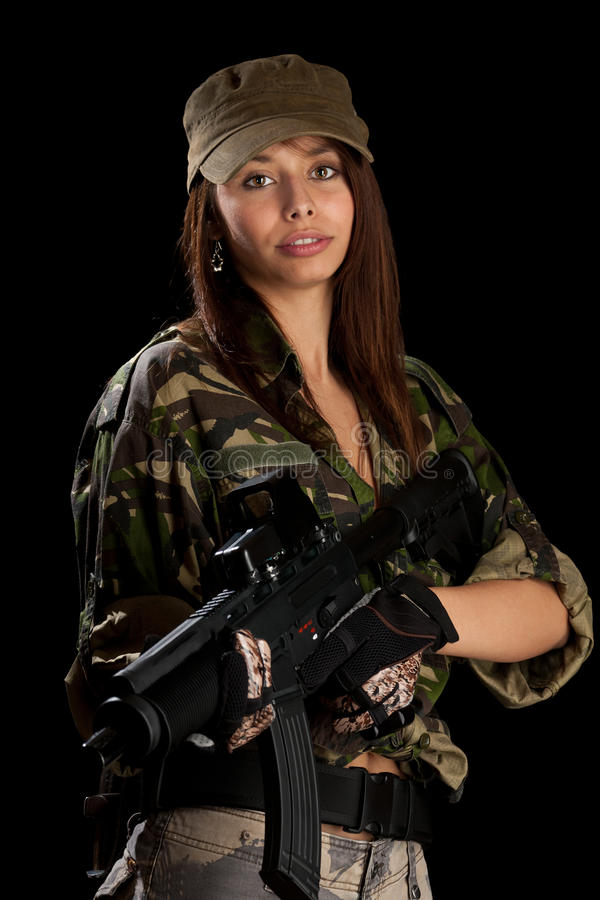 Download Woman in military uniform stock photo. Image of graceful - 22800408