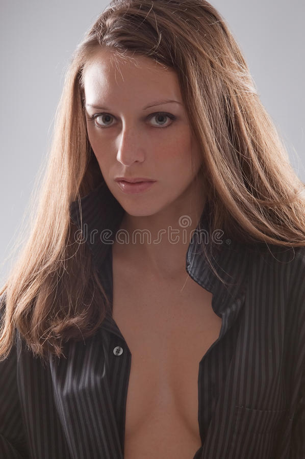 Download Woman In Open Shirt Royalty Free Stock Photo - Image: 15344455