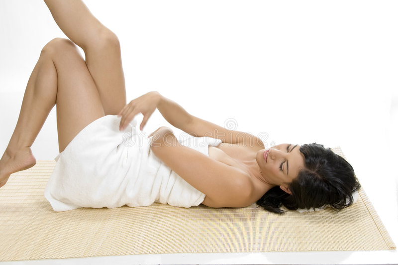Download Woman relaxing stock image. Image of laying, body, pillow - 6585019