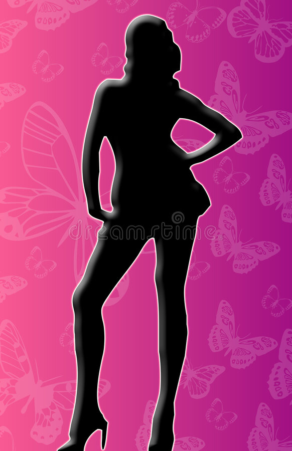 Woman Silhouette stock image