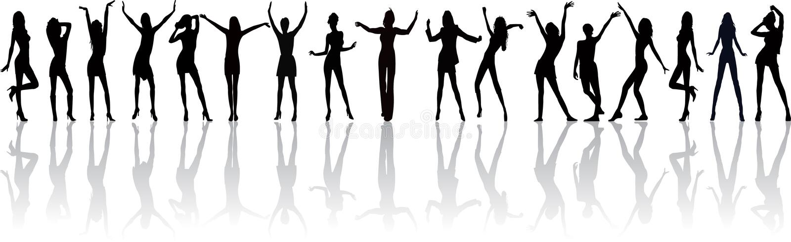 Woman Silhouettes Stock Photo