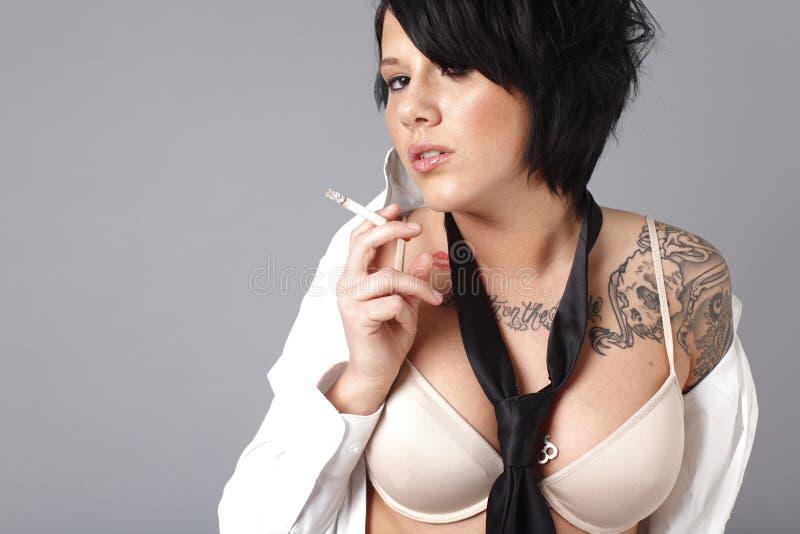 Smoking sexy woman