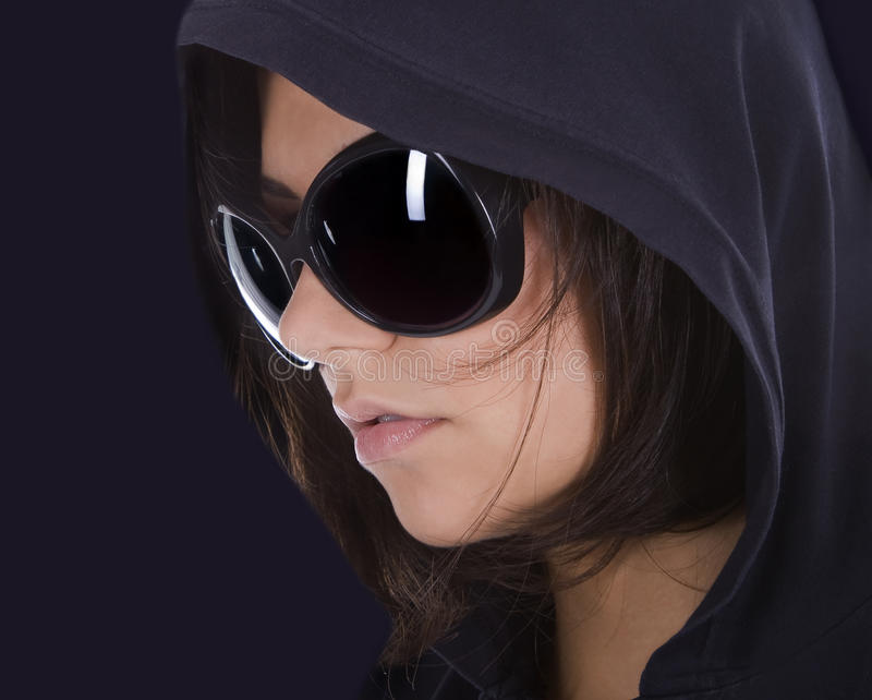 Download Woman In Sunglasses With Hood. Stock Photography - Image: 16911842