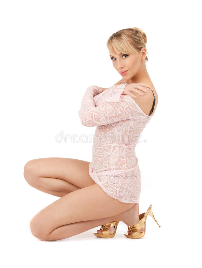Download Woman in transparent dress stock image. Image of glamour - 25095123
