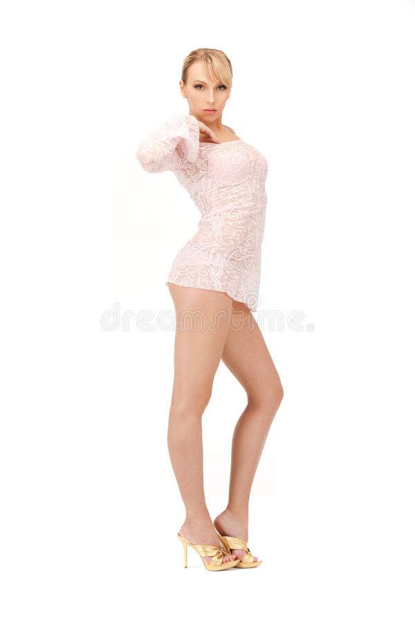 Download Woman in transparent dress stock image. Image of full - 25143815