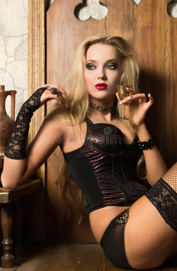 Download Woman vamp stock image. Image of gorgeous, gothic, model - 19922203