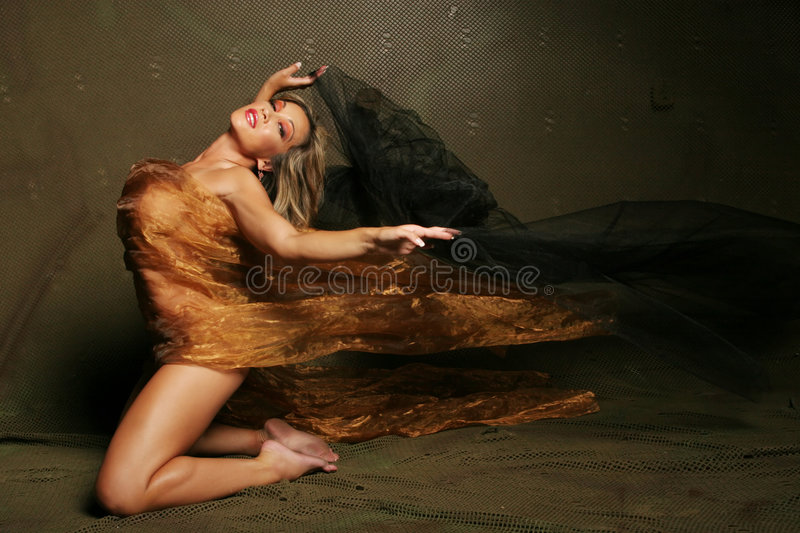 woman wrapped in silk stock images