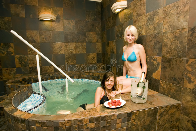 Women In Hot Tub Stock Photo  Image Of Bikini  Entice