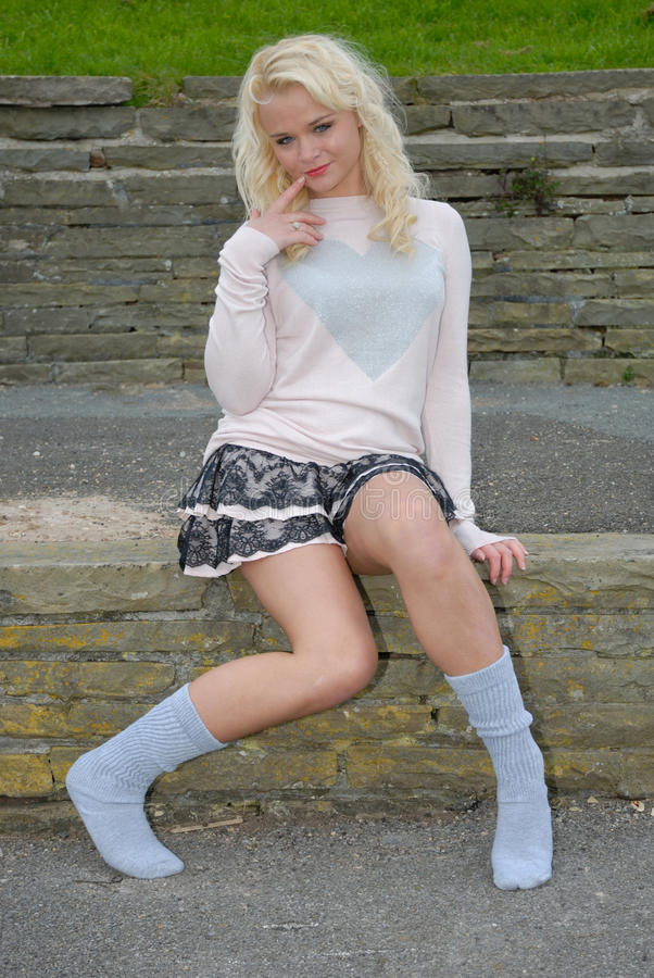 Sexy young blond woman