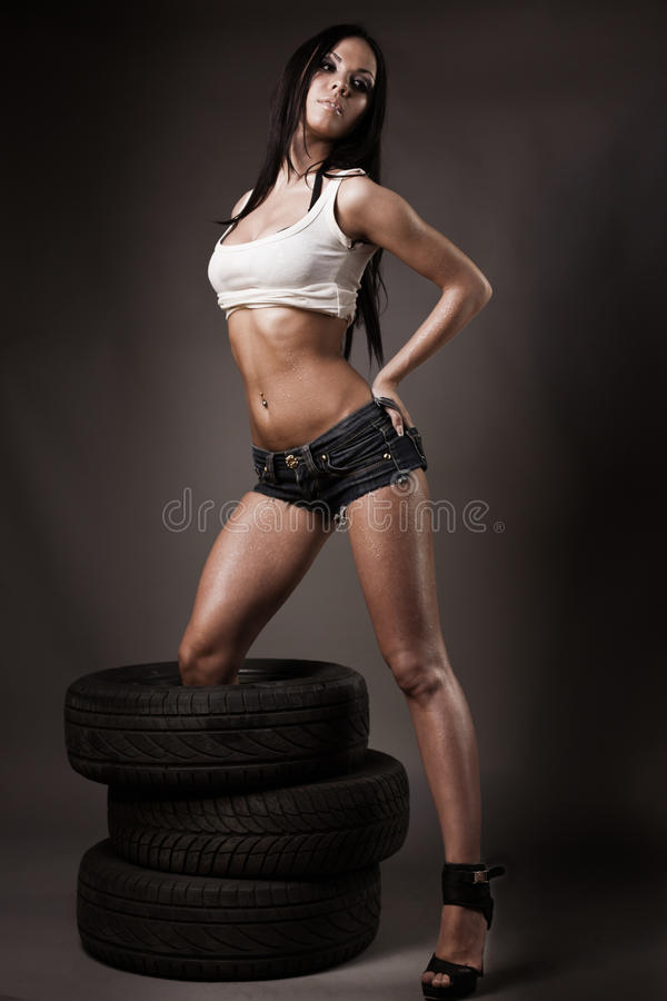 Download Young Brunette In Full Length Stock Images - Image: 24134764