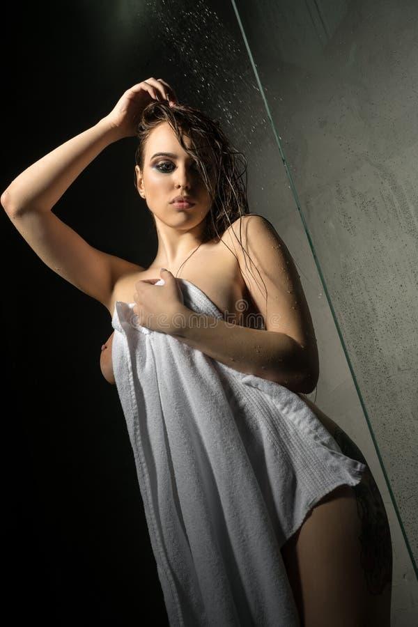 Girl in shower towel video