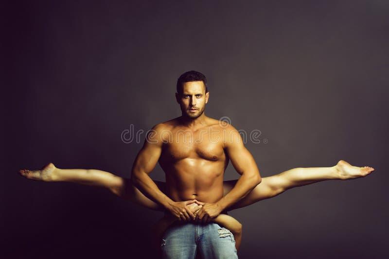 young couple dancing in studio stock image
