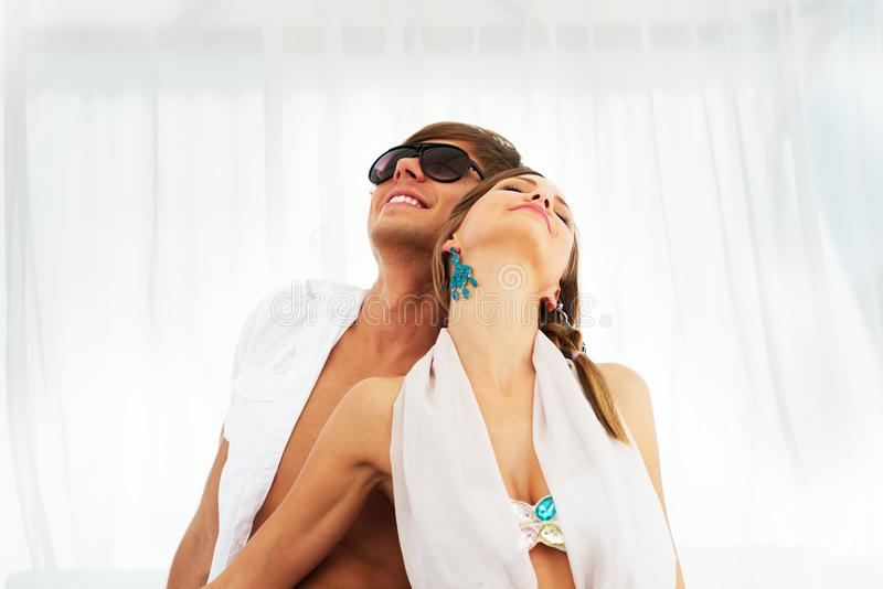 Download Young couple on a resort stock image. Image of female - 36548995