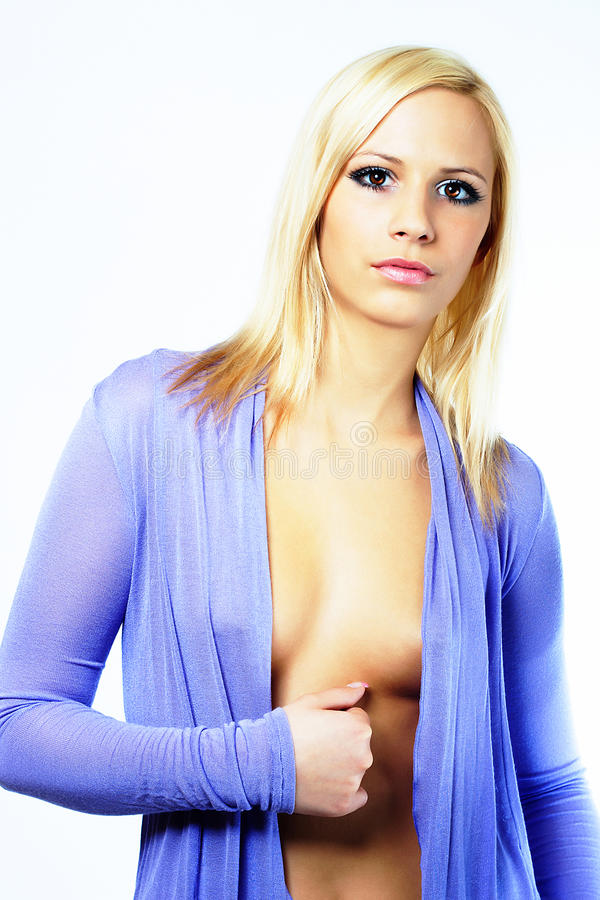 Download Young fashion girl in blue stock image. Image of girl - 22120649