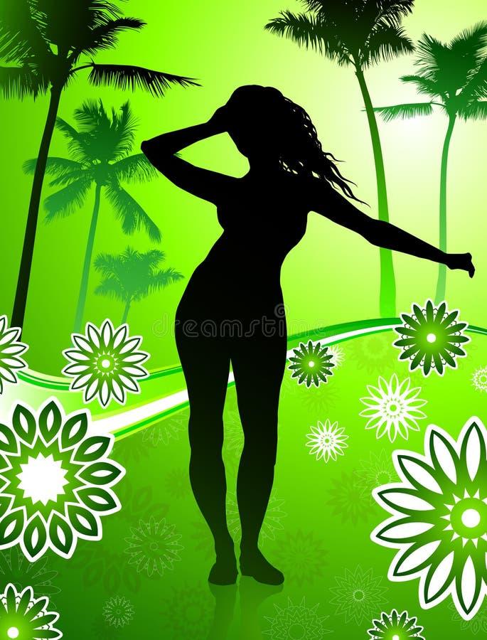 young girl dancing royalty free illustration
