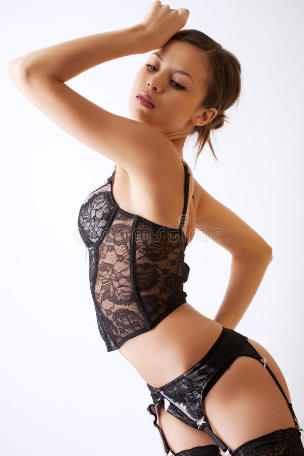 Young Girl In Lingerie Royalty Free Stock Photos