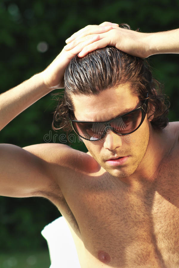 Download Young man with sunglasses stock photo. Image of healthy - 29435888