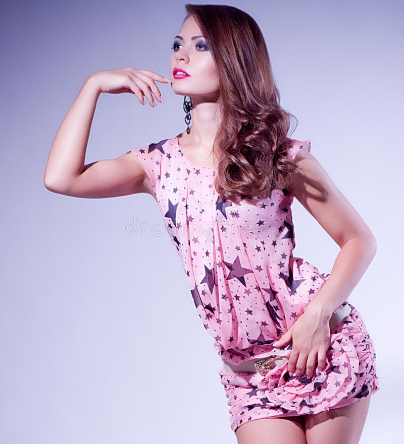 Download Young Woman In Fashion Dress Stock Photo - Image: 25135876