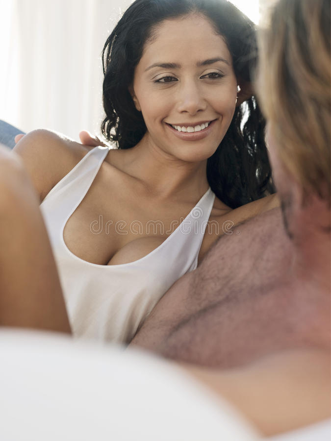 Download Young Woman With Man In Bed Stock Photography - Image: 31827612