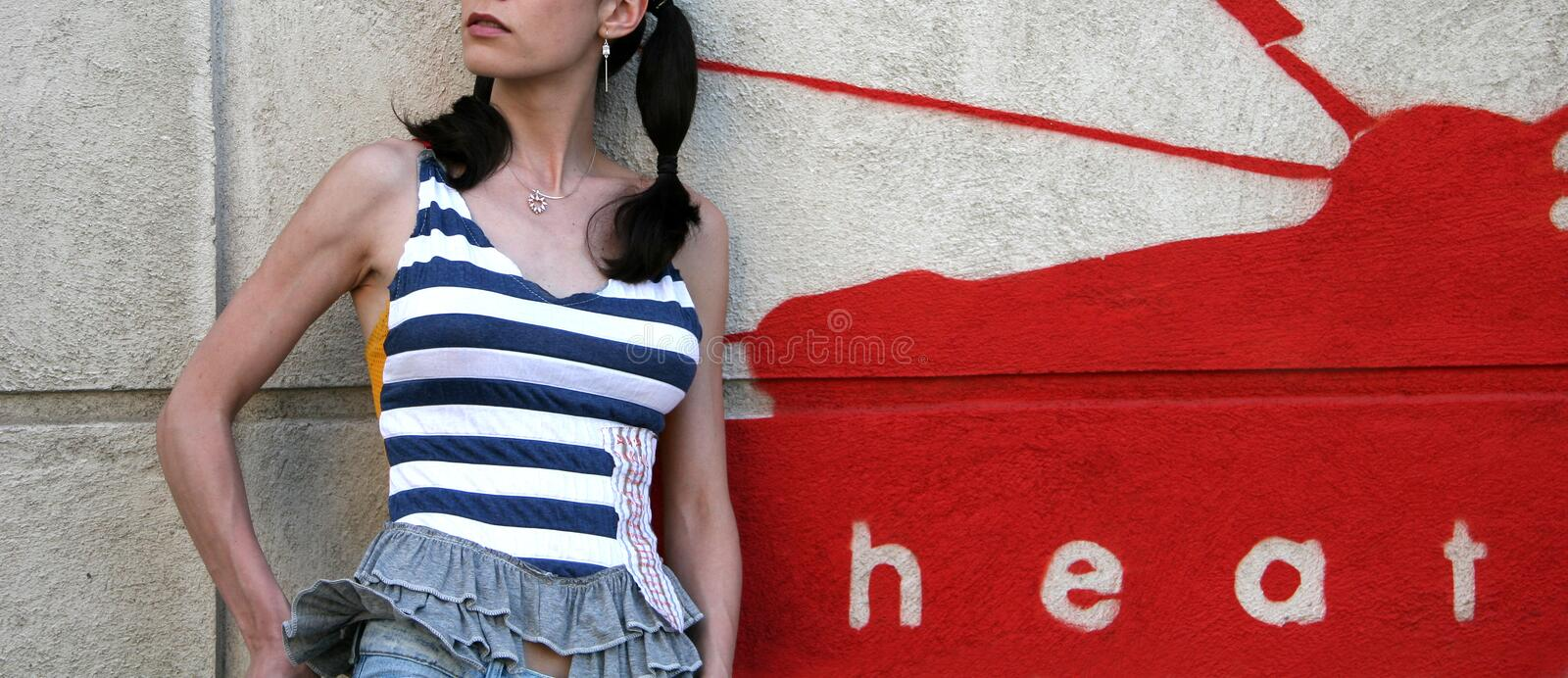 Download Young Woman Posing stock photo. Image of lines, fashion - 799800