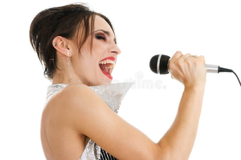Sexy zangervrouw stock foto's