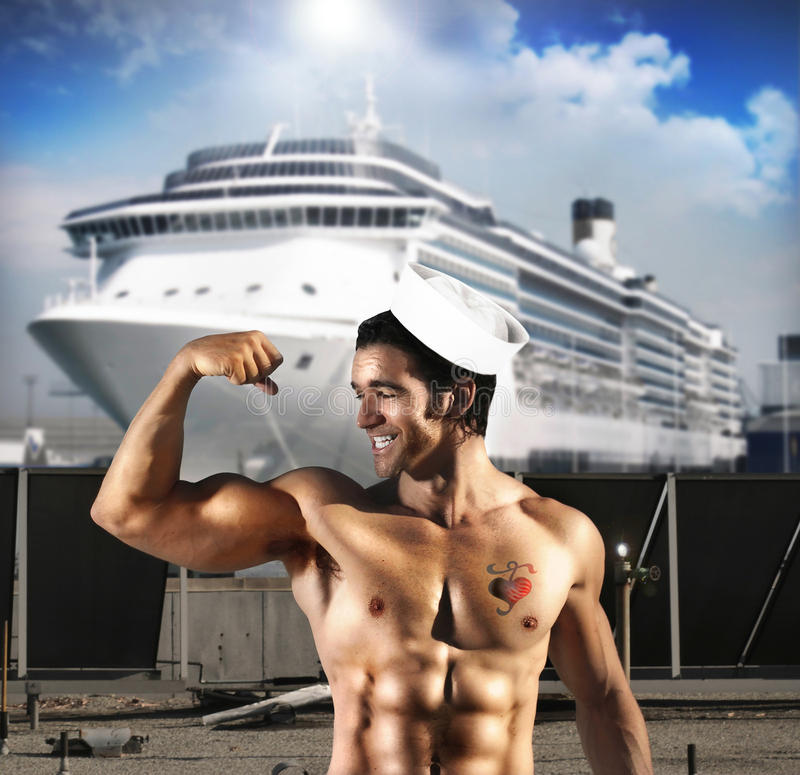 Sexy zeemansmens royalty-vrije stock fotografie